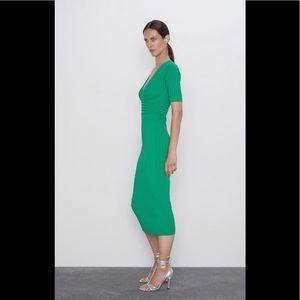 Zara Green Pencil Dress
